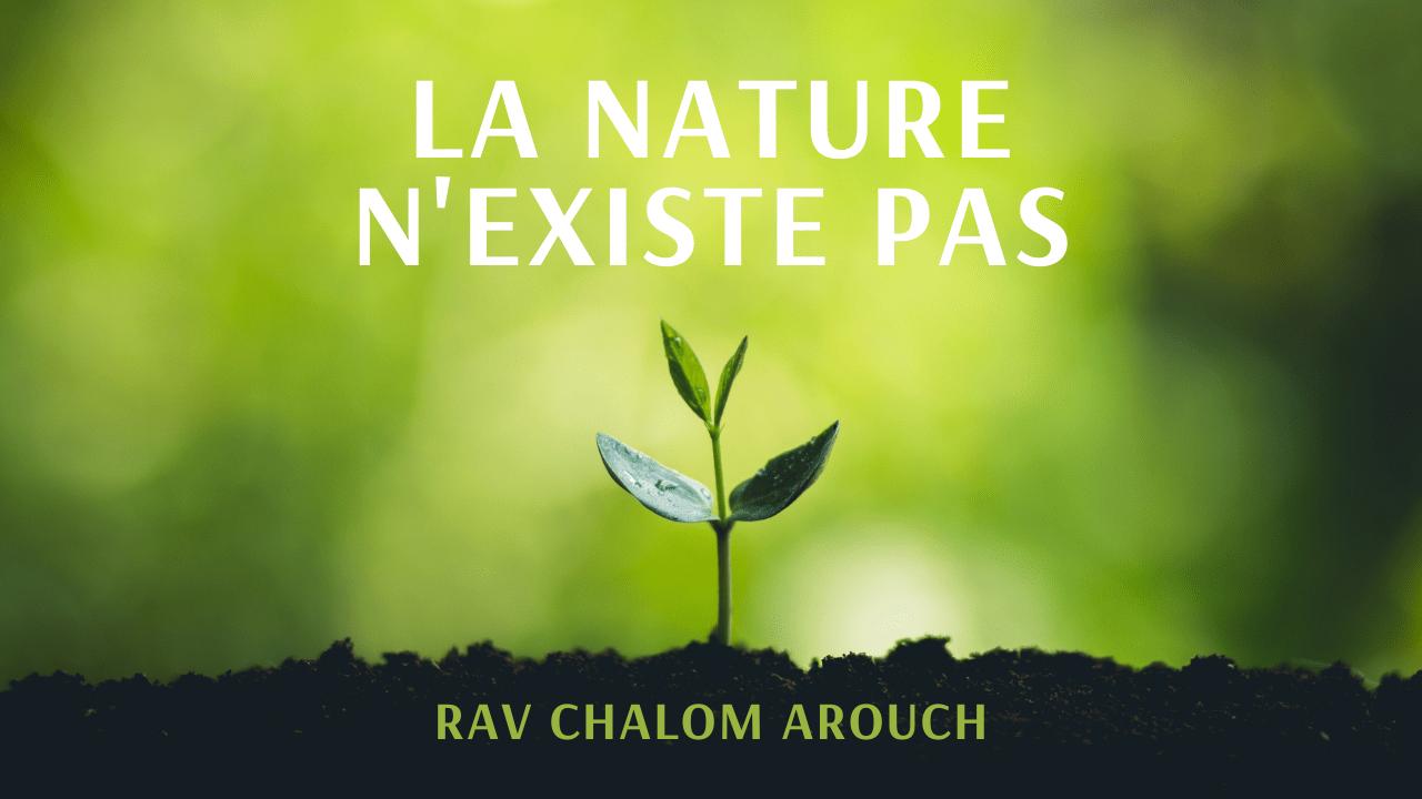 La nature n'existe pas